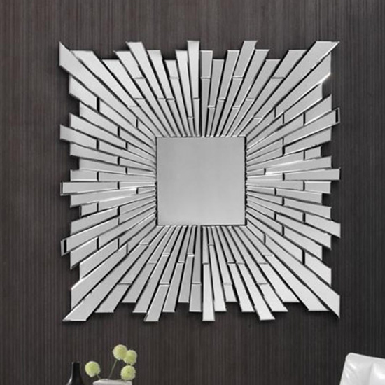 Crispano Designer Square Wall Mirror