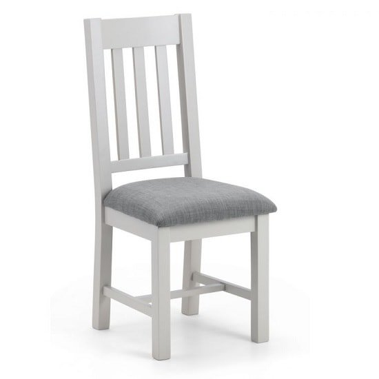 Christie Wooden Dining Chair In Taupe Linen With Grey Lacquer