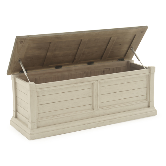 Croft Wooden Blanket Box In Antique White