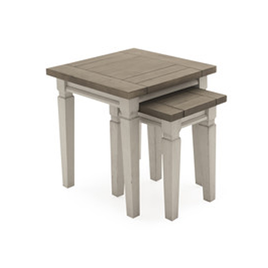 Croft Wooden Nest Of Tables In Antique White