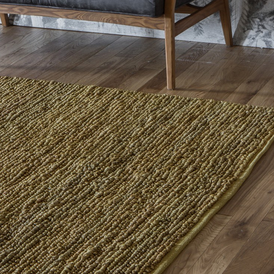 Croftstone Cotton Fabric Rug In Ochre_1