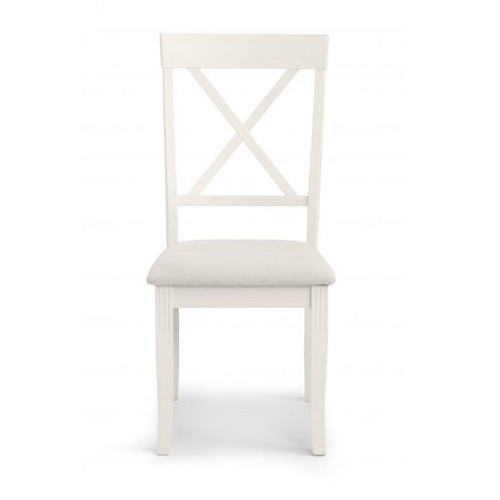 Cromley Wooden Dining Chair In Ivory Laquered Finish_2