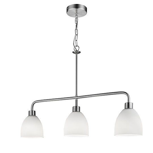 Cromwell 3 Lights Pendant Ceiling Light In Satin Silver