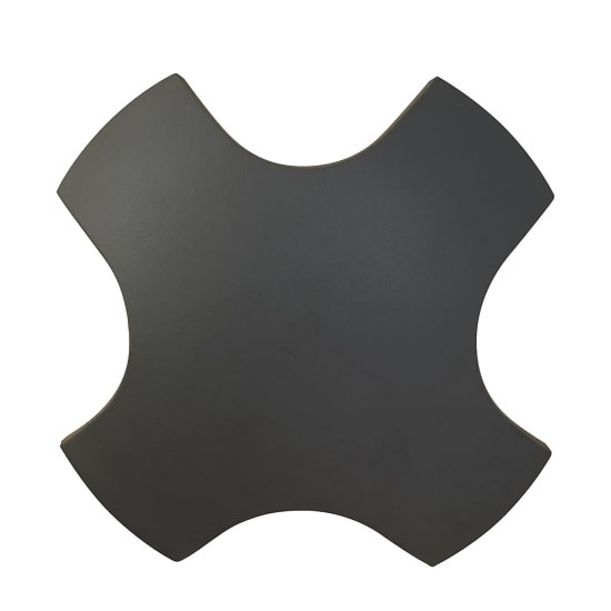 Cross Outdoor LED Light Wall Bracket In Dark Grey