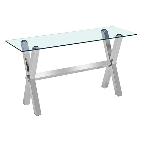 Crossley Rectangular Clear Glass Console Table_2