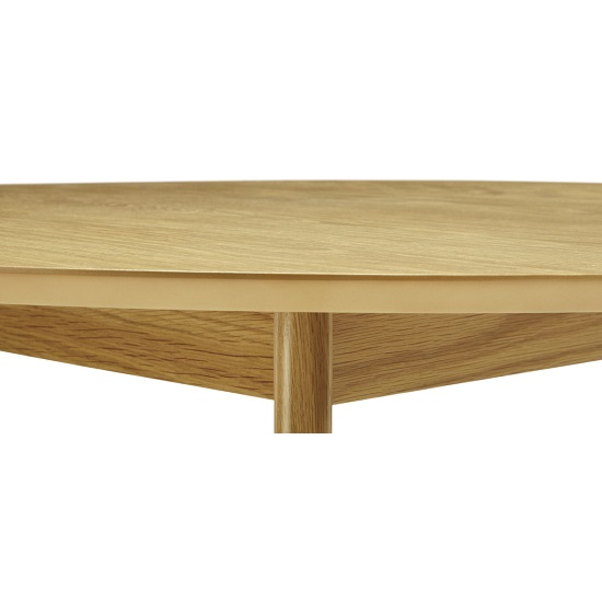 Ruby Dining Table In Oak With 4 Madeline Chair In Bark Fabric_3