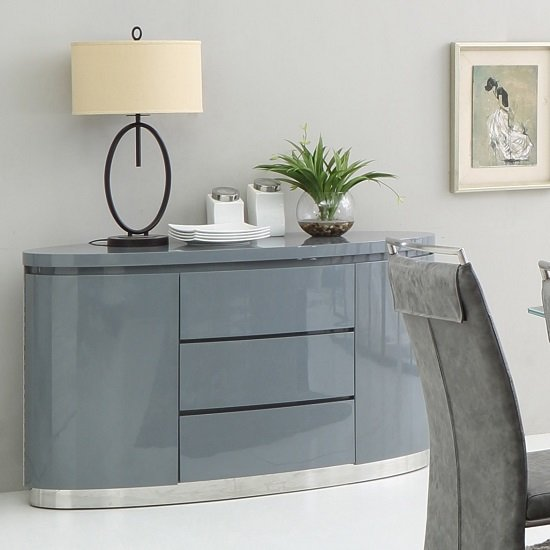 Grey gloss sideboards furniture sale direct for Furniture in fashion