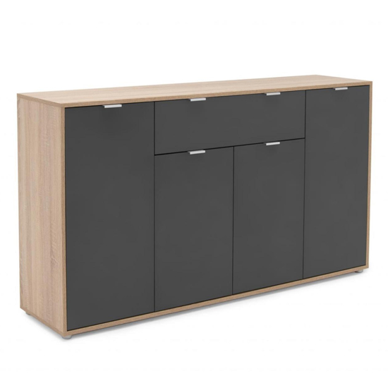 Crux Sideboard In Sonoma Oak And Anthracite