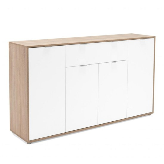 Crux Sideboard In Sonoma Oak And White