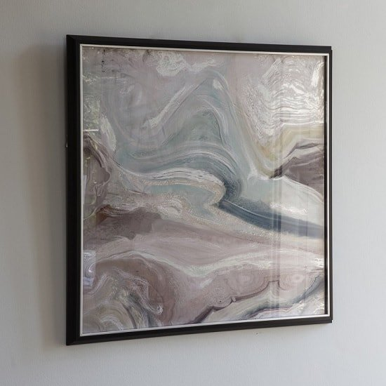 Aurora Crystal Fluid Abstract Framed Art