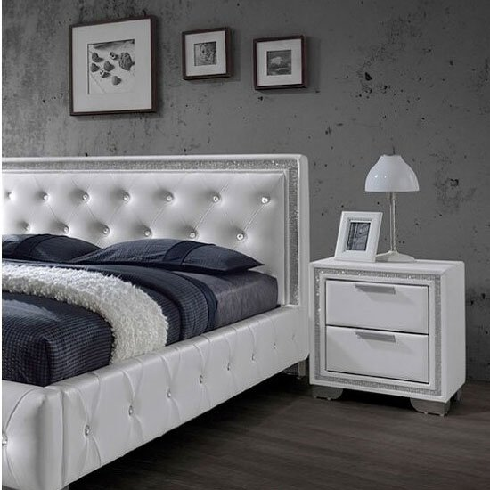 crystal white bedside - 10 Selective Pieces Of Furniture For Compact Spaces