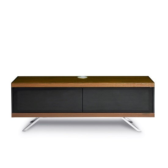 Cubic TV Stand In Black Gloss With Walnut Top And Bottom Panel_3