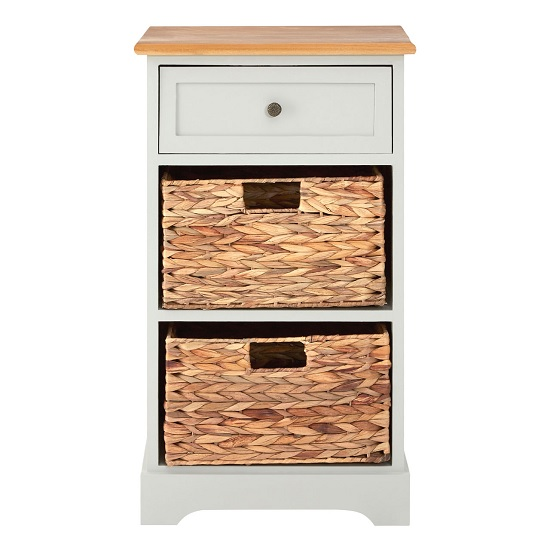 Read more about Cullen wooden bedside cabinet in grey with 2 drawers
