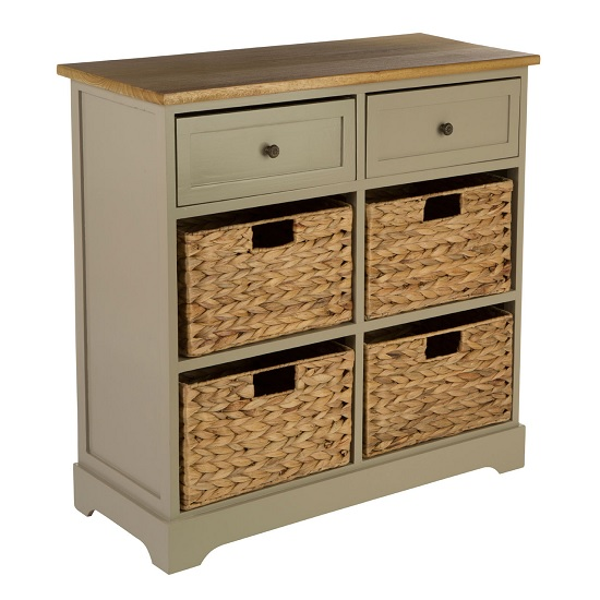 Cullen Wooden Storage Cabinet In Grey With 6 Drawers