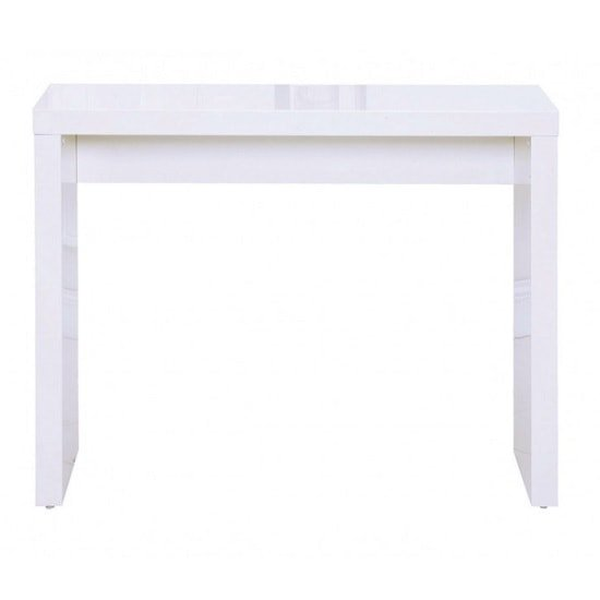Photo of Curio modern console table rectangular in white high gloss
