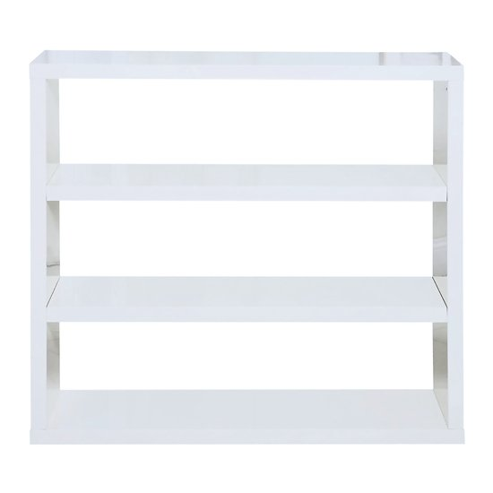 Curio Contemporary Bookcase In White High Gloss