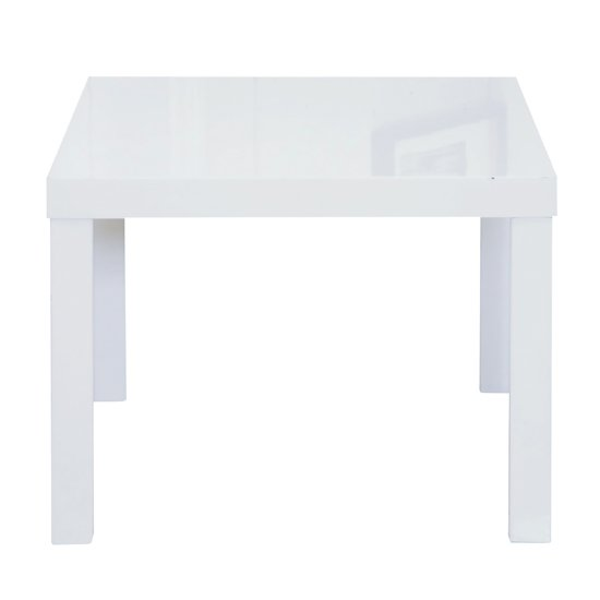 Puro End Table In White High Gloss