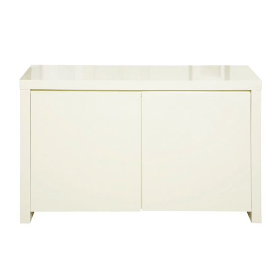 Curio Cream High Gloss Finish 2 Door Sideboard_1