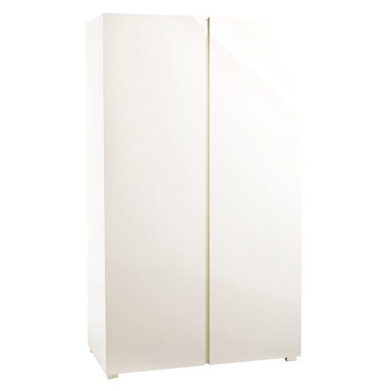 View Curio cream high gloss finish 2 door wardrobe