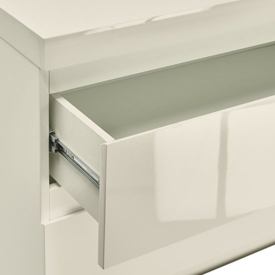 Curio Cream High Gloss Finish 2 Drawer Bedside Cabinet_2