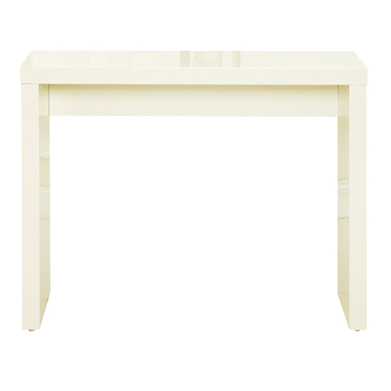 Curio Wooden Console Table In Cream High Gloss_1