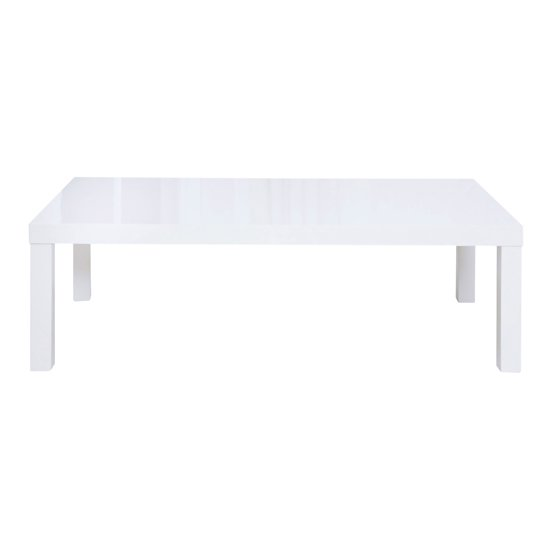Curio Modern Coffee Table Rectangular In White High Gloss