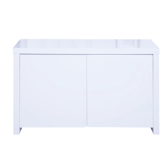 Curio Modern Sideboard In White High Gloss With 2 Doors_1