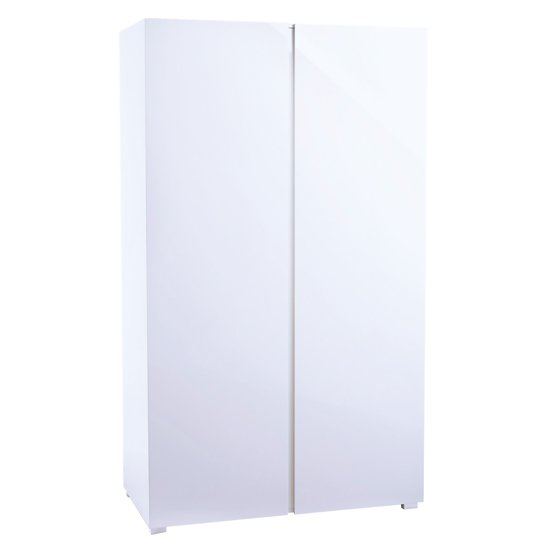 Curio Modern Wardrobe In White High Gloss With 2 Doors_2