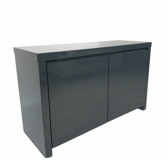 Curio Modern Sideboard In Charcoal High Gloss With 2 Doors