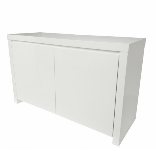 Curio Modern Sideboard In White High Gloss With 2 Doors
