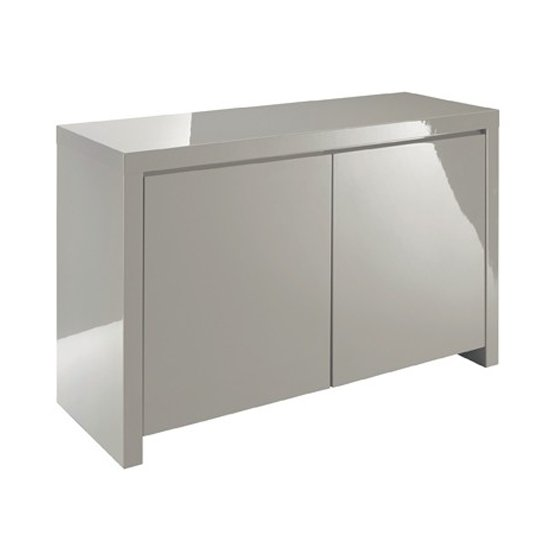Curio Stone High Gloss Finish 2 Door Sideboard_1