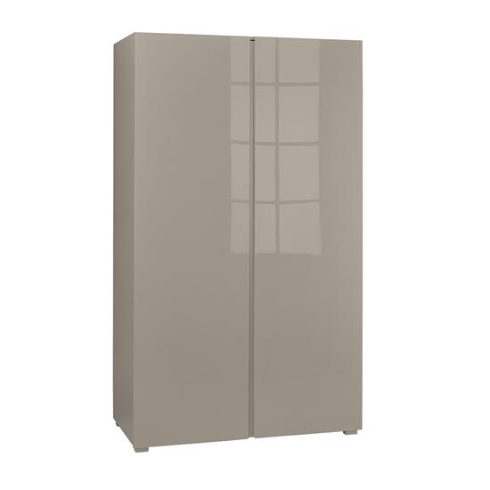 View Curio stone high gloss finish 2 door wardrobe