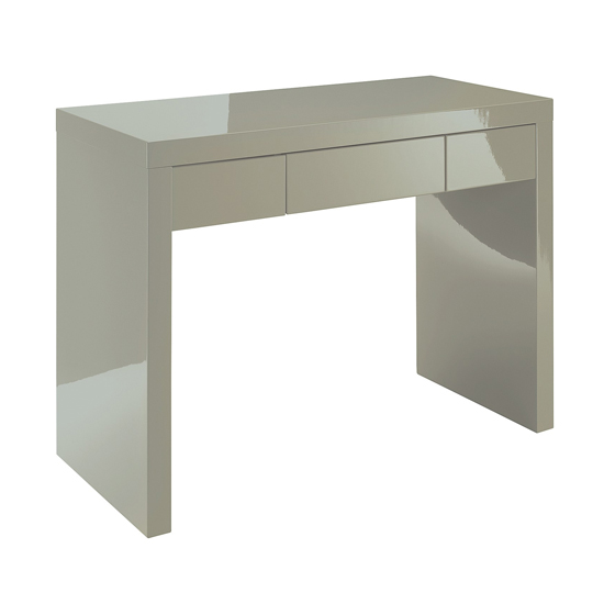Puro Dressing Table In Stone High Gloss With 1 Drawer_3