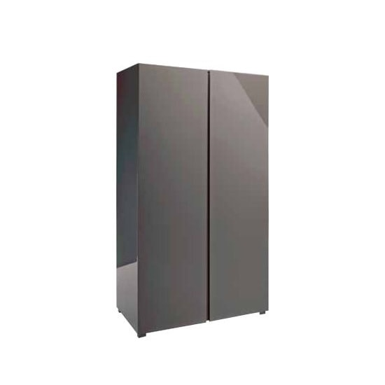 Curio Modern Wardrobe In Charcoal High Gloss With 2 Doors