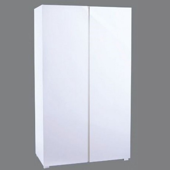 Curio Modern Wardrobe In White High Gloss With 2 Doors
