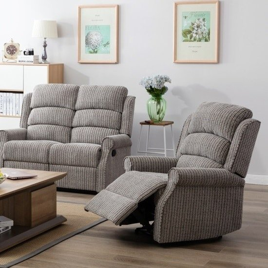 Curtis Fabric Recliner Sofa Chair In Latte_1