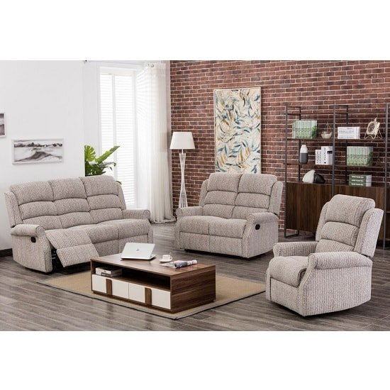 Curtis Fabric Recliner Sofa Chair In Natural_2