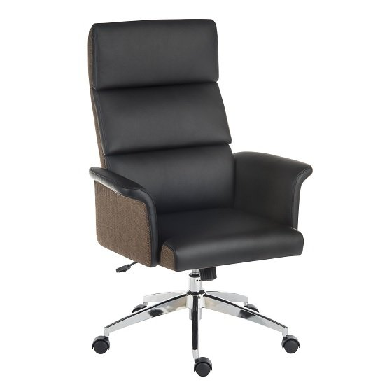 Curzon Executive Home Office Chair In Black PU