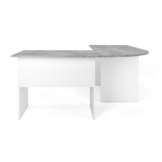 Cushing Round Corner Computer Desk In Concrete And White_5