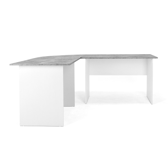Cushing Round Corner Computer Desk In Concrete And White_6