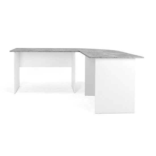 Cushing Round Corner Computer Desk In Concrete And White_7