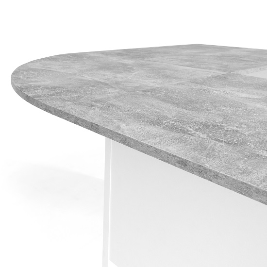 Cushing Round Corner Computer Desk In Concrete And White_8