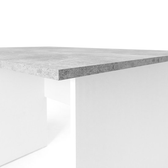 Cushing Round Corner Computer Desk In Concrete And White_9
