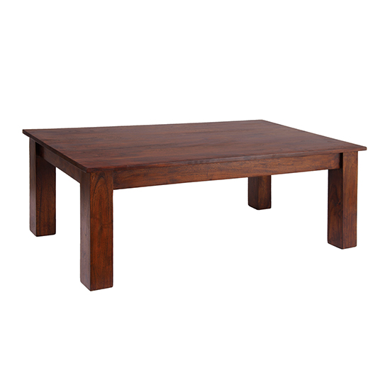 Cygni Solid Acacia Coffee Table In Dark Oak