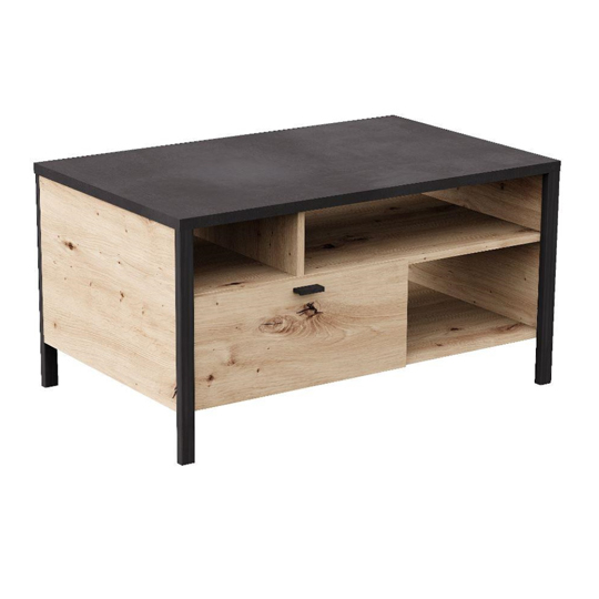 Cygnus Coffee Table In Artisan Oak And Matt Black_1
