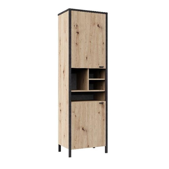 Cygnus Display Cabinet In Artisan Oak With 2 Doors