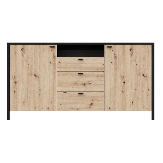 Cygnus Sideboard In Artisan Oak With 3 Drawers And 2 Doors