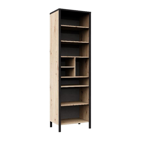 Cygnus Wooden Tall Storage Cabinet In Artisan Oak