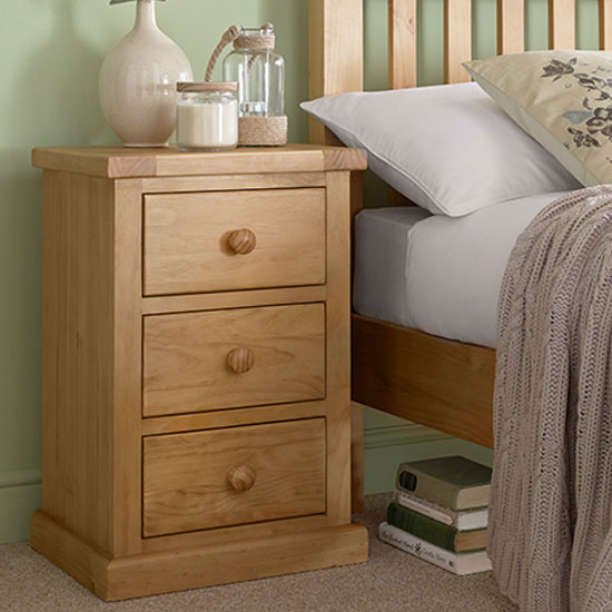 Cyprian Wooden Kids Room Bedside Cabinet In Chunky Pine_1