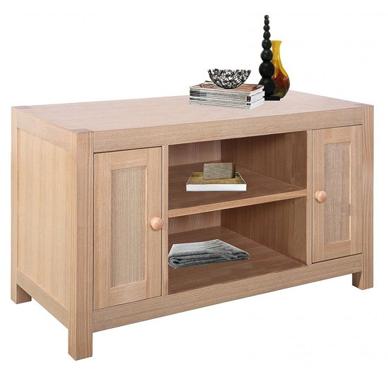 Cyprus Wooden TV Stand In Natural Ash